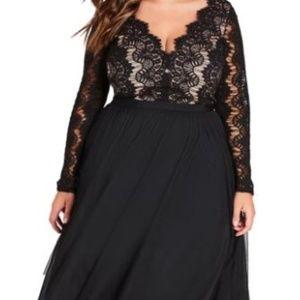 Rare Beauty Lace Fit & Flare Dress NWOT